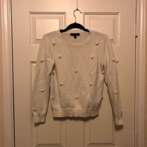 Banana Republic white dot sweater size s